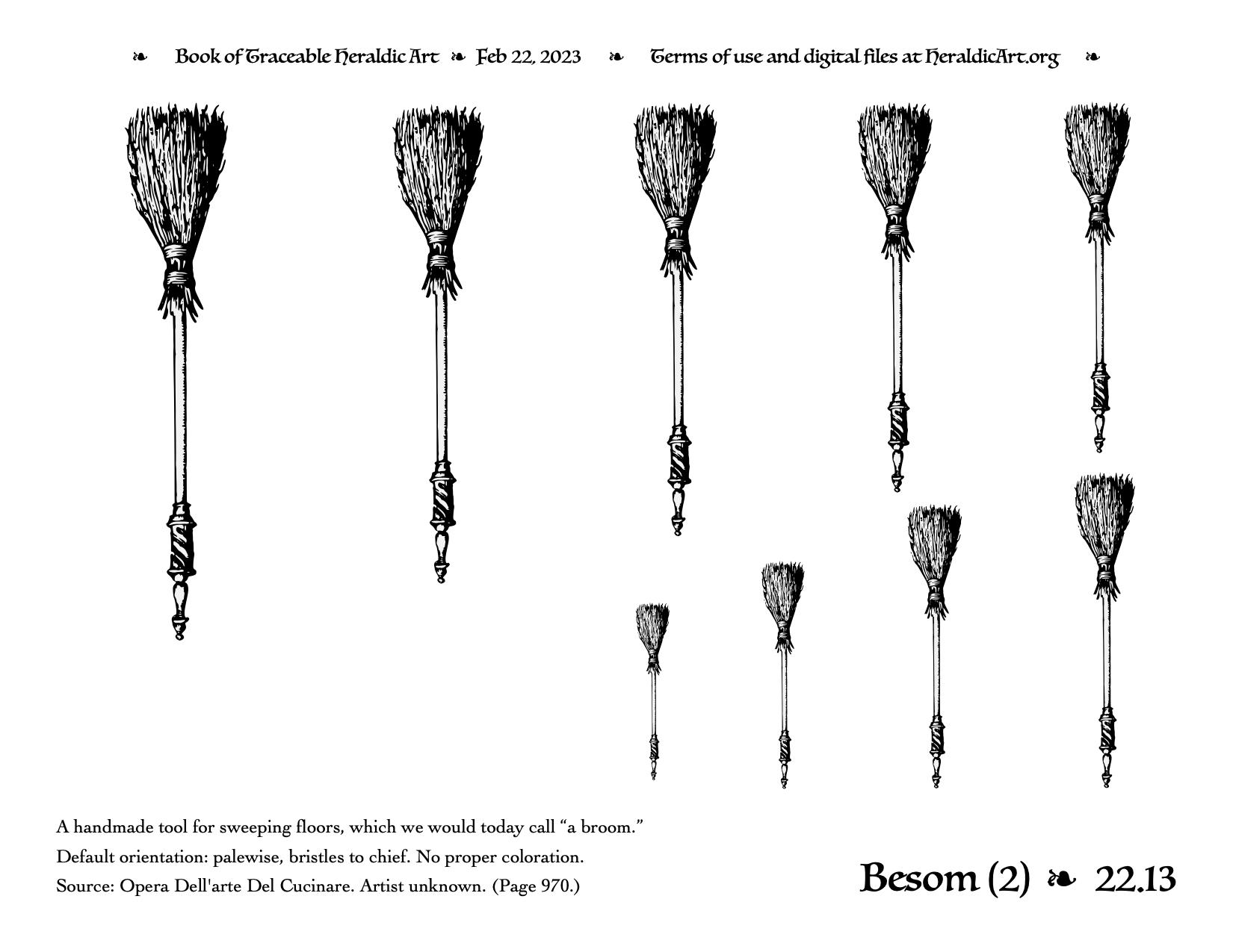 Besom - Traceable Heraldic Art