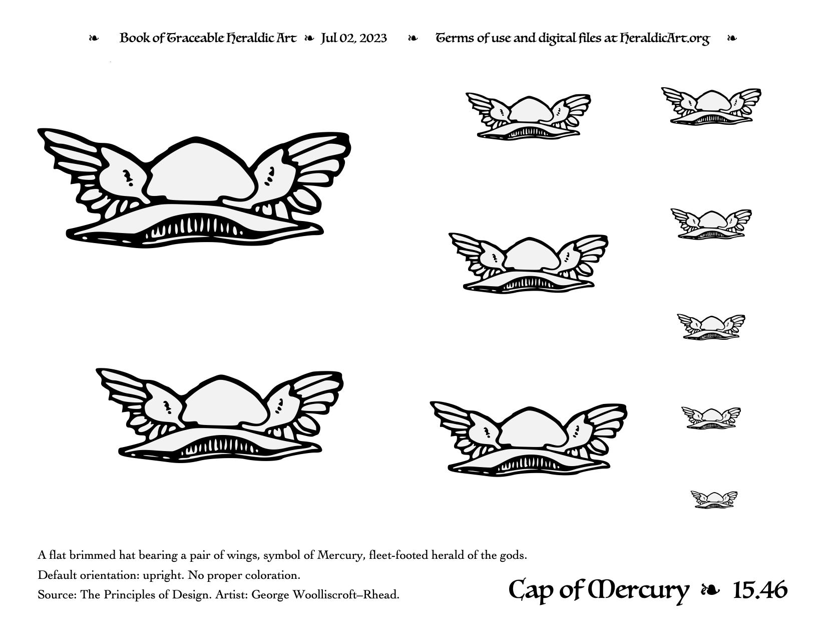 Cap traceable heraldic art cap of mercury biocorpaavc Gallery