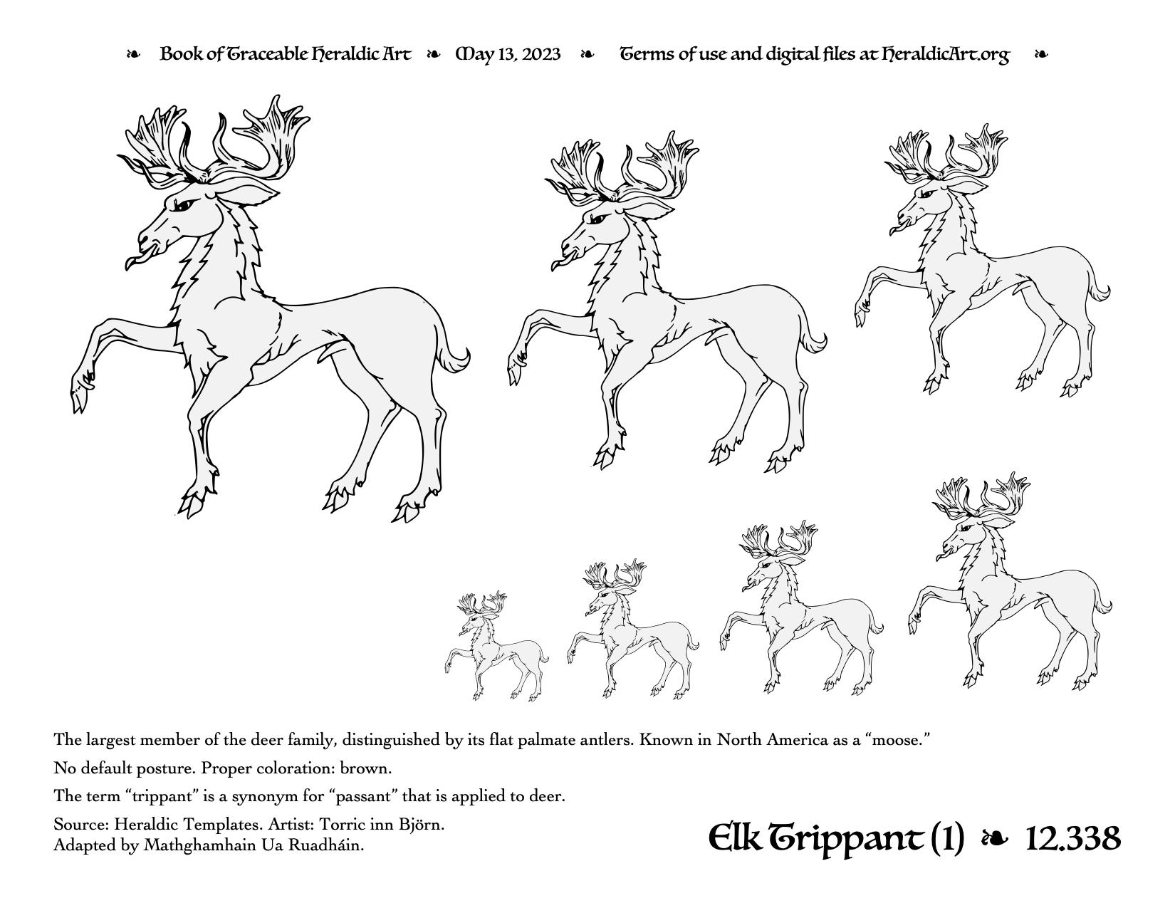 Trippant - Traceable Heraldic Art