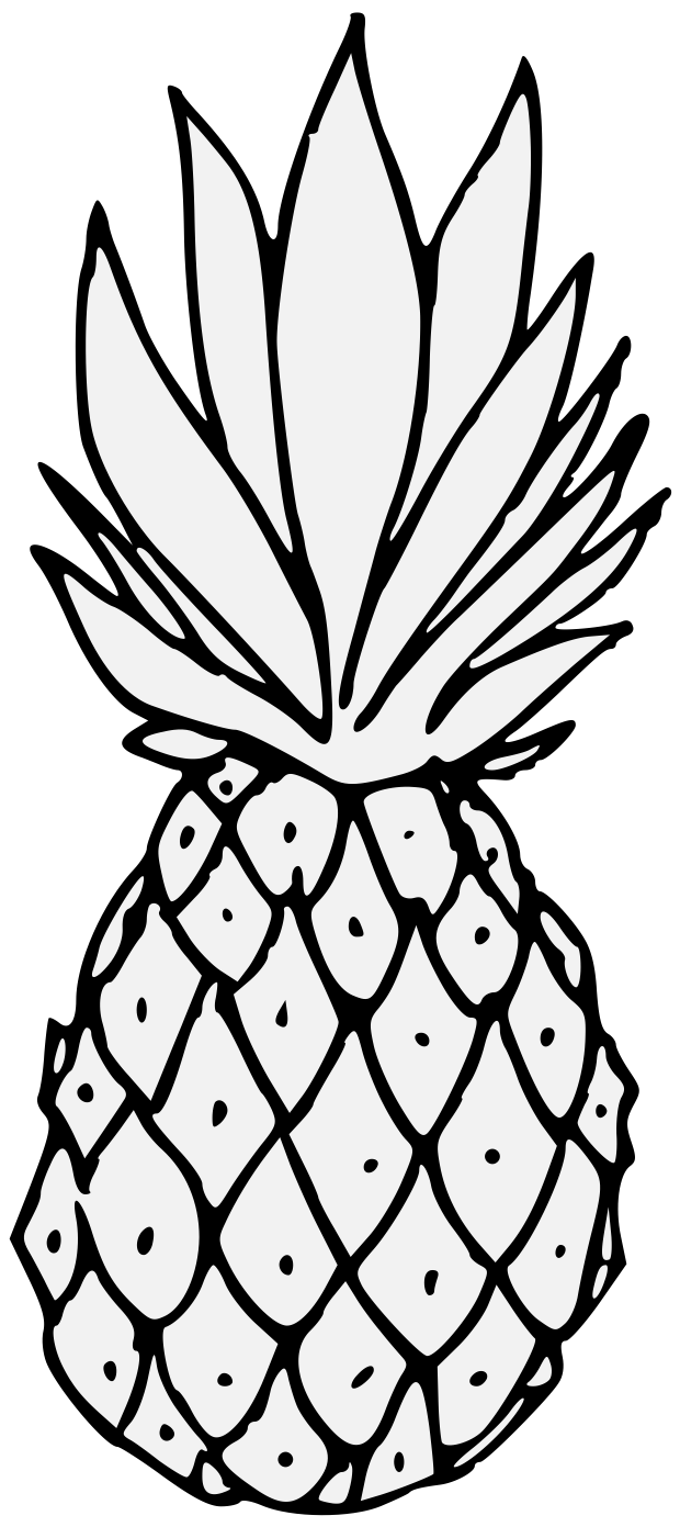 Pineapple - Traceable Heraldic Art for Clipart Pineapple Black And White  51ane