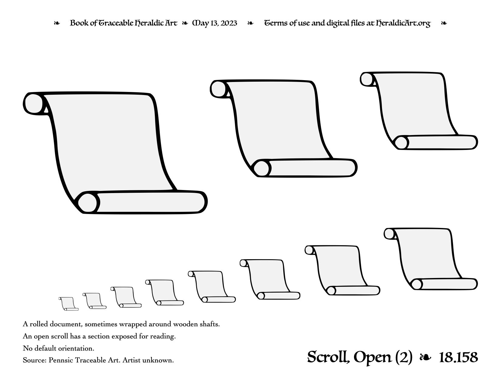 Scroll - Traceable Heraldic Art
