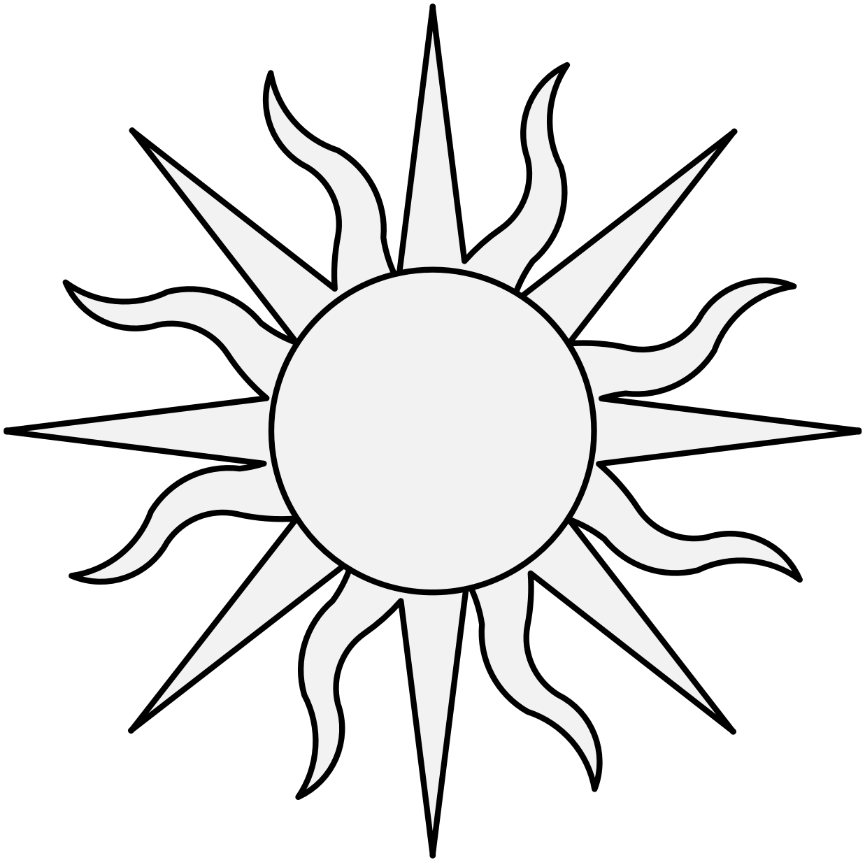 Sun - Traceable Heraldic Art