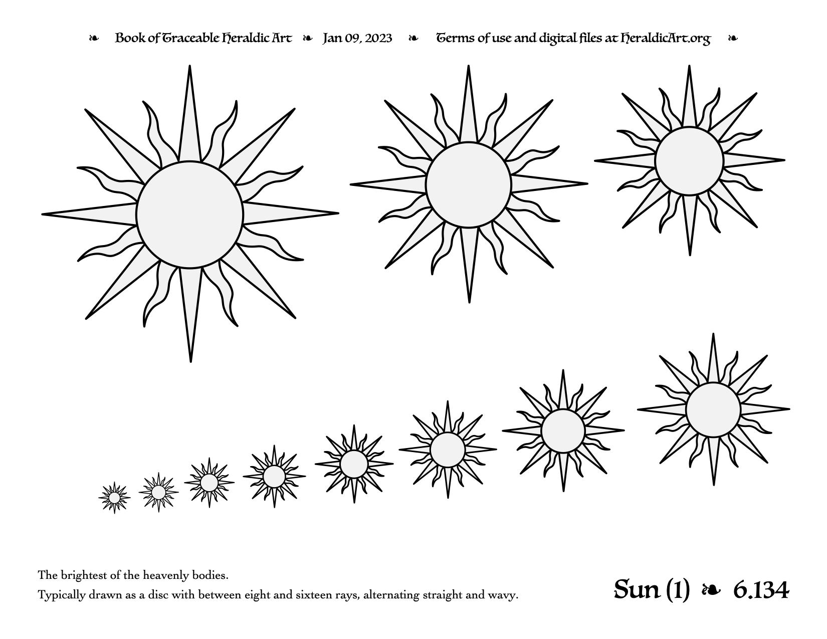 Sun Traceable Heraldic Art