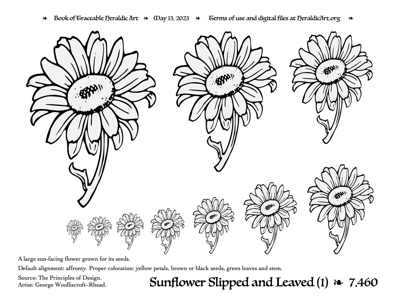 Sun Design Images Sunflower - Traceable ...