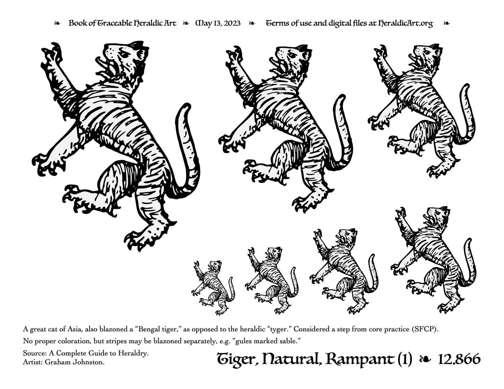 Tiger - Traceable Heraldic Art
