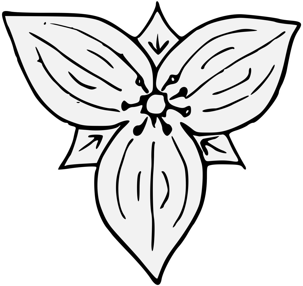 Montana state flower coloring page - Trillium Traceable Heraldic Art Wheat Coloring Pages Trillium Coloring Page