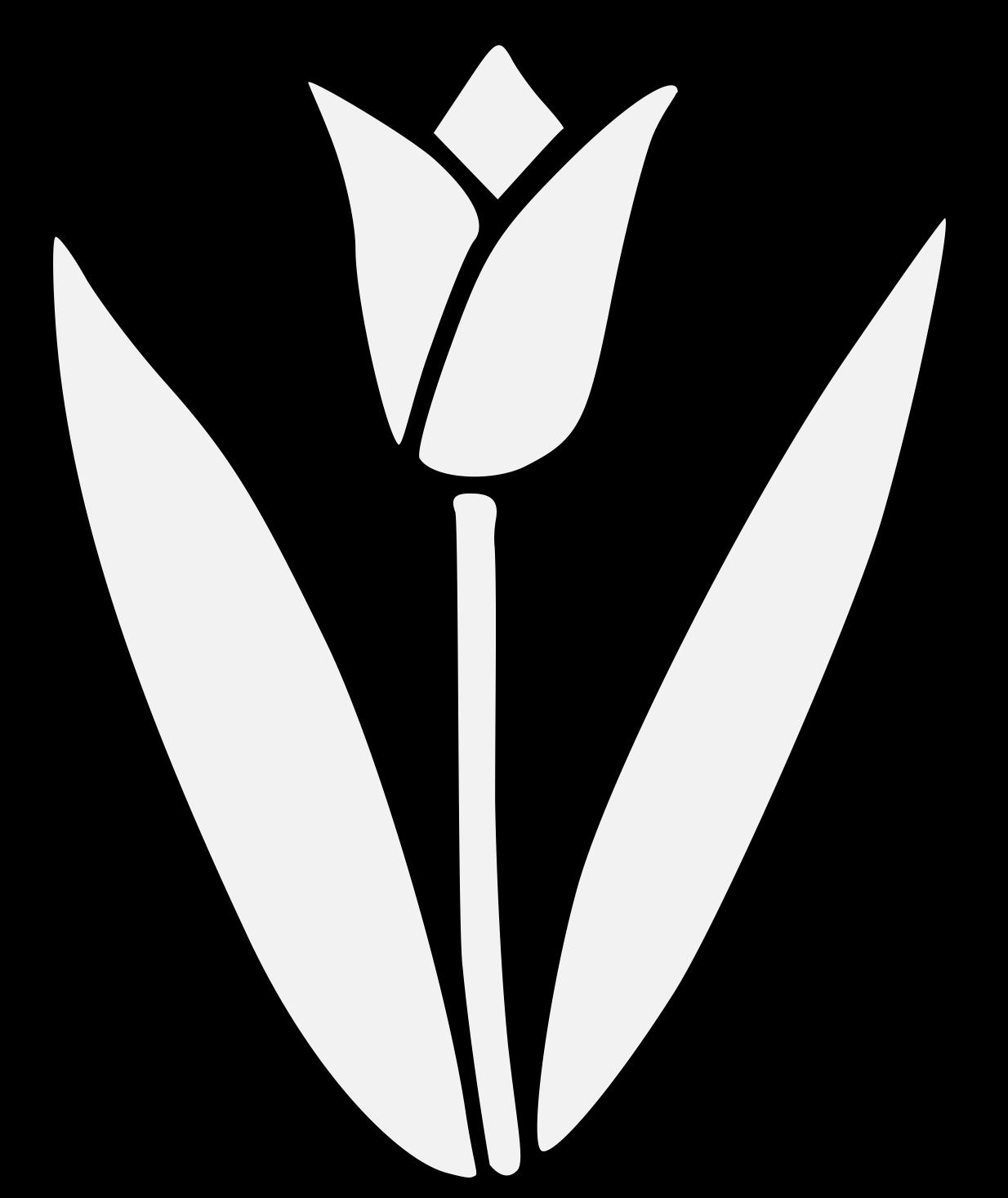tulip traceable heraldic art