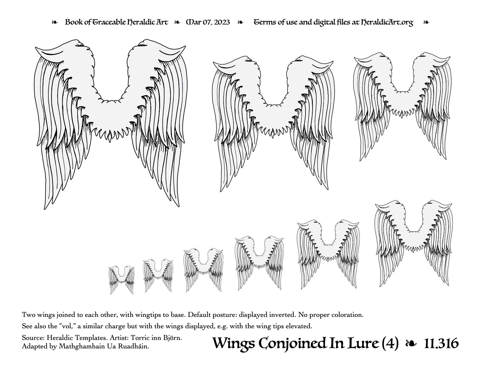 Wing - Traceable Heraldic Art